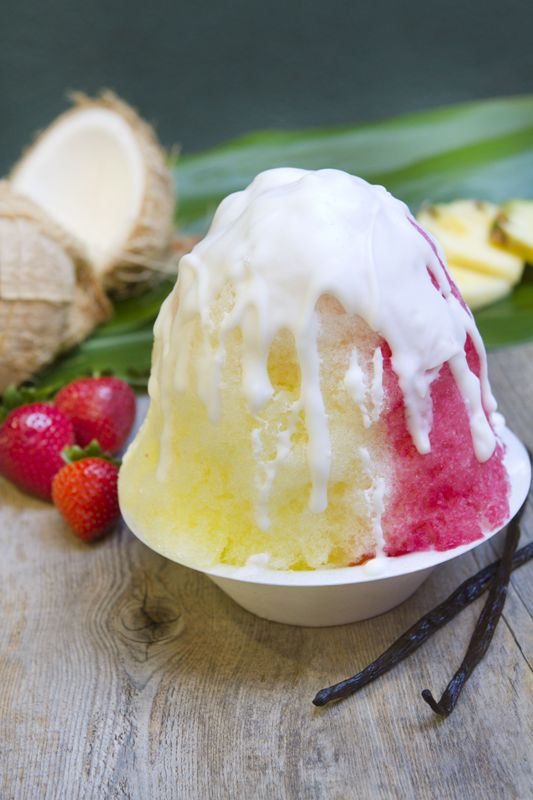 Shave ice with Vanilla bean